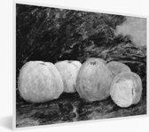 Foto in lijst - Beroep - Schilderij van Gustave Courbet fotolijst wit 40x30 cm - Poster in lijst (Wanddecoratie woonkamer / slaapkamer)