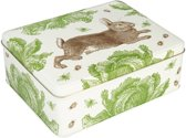 Bewaarblik Rabbit & Cabbage - Rechthoek - Blik -  19,5 x 15,4 x 7,5 cm - Thornback & Peel