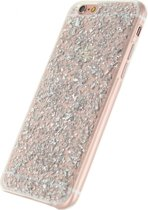 Xccess Glitter TPU Case Apple iPhone 6/6S Clear Silver