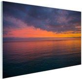 Zonsopkomst over de Middellandse Zee Glas 120x80 cm - Foto print op Glas (Plexiglas wanddecoratie)