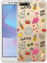 Huawei Y6 2018 Hoesje Summer Flamingo