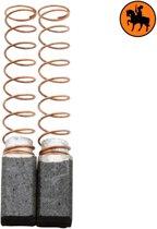 Koolborstelset voor AEG Boor 343883 - 6,35x6,35x11,5mm - Vervangt 012510