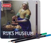 Hollandse Meesters blik 24 kleurpotloden Het Melkmeisje van Vermeer