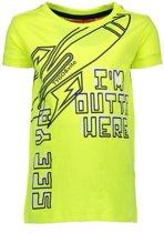 Tygo&Vito Jongens t-shirts & polos Tygo&Vito T&v t-shirt SS neon I'M OUTTA HERE geel 92
