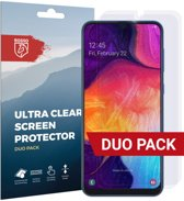 Rosso Samsung Galaxy A50 Ultra Clear Screen Protector Duo Pack
