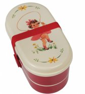 Bento box vintage girl - lunchbox - inclusief vork en lepel