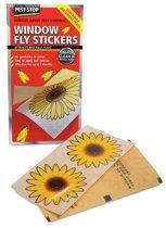 Anti-Vliegen raamstickers | 4 stuks