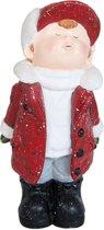 Beeld Jongen 43 cm 6PR0783 | Winter & Kerst decoratie | Clayre & Eef
