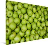 Veel groene appels Canvas 120x80 cm - Foto print op Canvas schilderij (Wanddecoratie woonkamer / slaapkamer)