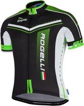 Rogelli Gara Mostro  Fietsshirt - Maat S  - Mannen - zwart/groen