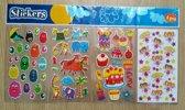 Stickervellen set van 4 stuks