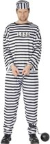 Boeven kostuum / verkleedpak voor heren - gevangeniskleding 48-50 (M)