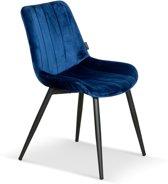 Lanterfant® Eetkamerstoel Sylvia - Fluweel - Royal Blue - Koningsblauw