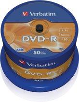 Verbatim DVD-R 4.7 GB Matt Silver 50 stuks
