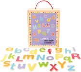 Bigjigs houten magneet letters 'hoofdletters en kleine letters'