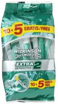Wilkinson Sword Extra 2 Sensitive - 15 stuks - Scheermesjes