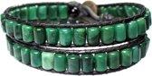 Bela Donaco Heren armband classic - groen -Afrikaanse Jade