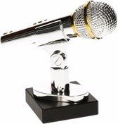 Zang/zing/voice of wedstrijd winnaar award/prijs Microfoon