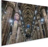 Het interieur van de binnenkant van de Kathedraal van Milaan Plexiglas 30x20 cm - klein - Foto print op Glas (Plexiglas wanddecoratie)