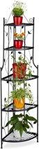 relaxdays - plantenrek - tuinrek - klapbaar - decoratie - 160 cm hoog - zwart