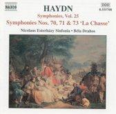 """Haydn: Symphonies Vol 25 - nos 70, 71 & 73 """"La Chasse"""" / Drahos et al"""
