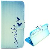 Casify - Blauw Smile Faux Leren Wallet Case Hoesje - iPhone 6 / 6s