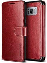 VRS Design Layered Dandy leather case Samsung Galaxy S8 Plus - Wine / Black