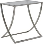 Light & Living Molina - Sidetable - 60 x 40 x 60 cm - Glas en Nikkel