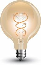 E27 5w Vintage Filament Globe 95 lamp, 300 Lumen, 2200K Flame