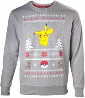 Pokémon - Pikachu Christmas Sweater / Kerst Trui - L - Carnavalskleding