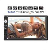 """HD Dubbel din autoradio 7"""". Bluetooth, USB, AUX, Handsfree met touchscreen & afstandsbedie"""
