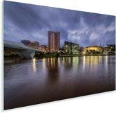 De skyline van Adelaide in Australië Plexiglas 60x40 cm - Foto print op Glas (Plexiglas wanddecoratie)