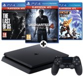 Sony PlayStation 4 Slim 1TB with Uncharted 4 + Ratchet and Clank + The Last of Us - EU - PS4