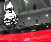 Coole Baby On Board sticker voor op de auto