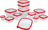 Excellent Houseware voorraaddozenset - 24-delig - kunststof - transparant