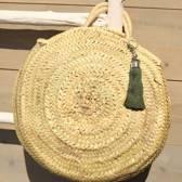 Myroundie - Roundie Bag - Ronde Ibiza Boho Tas 38 - Hand gevlochten Palmblad Tas – Maat S