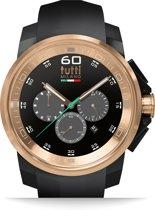 Tutti Milano TM500NO-RO- Horloge -  44 mm - Zwart - Collectie Masso