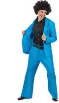Blauw disco kostuum voor mannen  - Verkleedkleding - XL