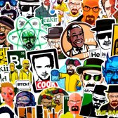Breaking Bad sticker pakket - 50 stickers voor laptop, muur, deur, koelkast etc.