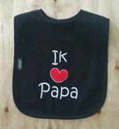 """Zwarte slab met """"Ik hou van papa"""""""