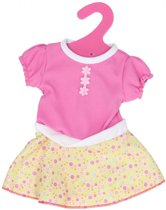 B-Merk Baby Born jurkje, roze/geel met stip