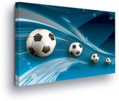 Footballs Canvas Print 60cm x 40cm