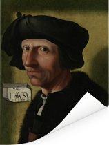 Portret van Jacob Cornelisz van Oostsanen - Schilderij van Jacob Cornelisz van Oostsanen Poster 60x80 cm - Foto print op Poster (wanddecoratie woonkamer / slaapkamer)