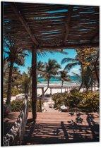 Dibond –Tropisch Strand– 60x90cm Foto op Dibond;Aluminium (Wanddecoratie van metaal)