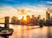 Papermoon Brooklyn Bridge Sunset Vlies Fotobehang 350x260cm 7-Banen