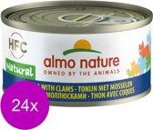Almo Nature - Tonijn en Kokkels - Kattenvoer - 24 x 70 g