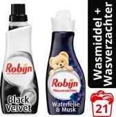 Robijn Black Velvet Klein & Krachtig wasmiddel en wasverzachter - 5 stuks