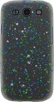 Xccess Cover Spray Paint Glow Samsung Galaxy S3 I9300 Green