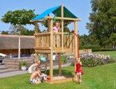Speeltoren Kleine Tuin - Jungle Hut Fireman's Pole