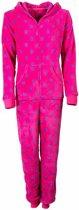 Dames onesie van bedrukte fleece. Pink G6